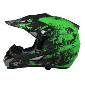 Junior cross helmet XTR 125 - matt green