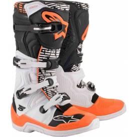 Topánky TECH 5 2021, ALPINESTARS (biela / čierna / oranžová fluo)