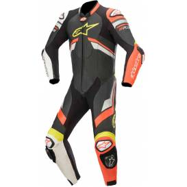 One-piece coverall GP PLUS 3 2021, ALPINESTARS (black / red fluo / white)
