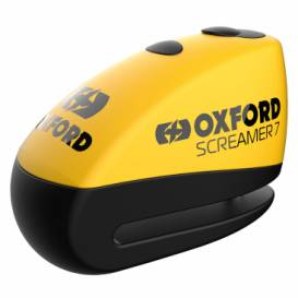 Disc brake lock SCREAMER 7, OXFORD (integrated alarm, yellow / black, pin diameter 7 mm)