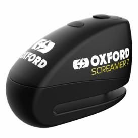 Disc brake lock SCREAMER 7, OXFORD (integrated alarm, black / black, pin diameter 7 mm)