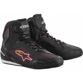 Topánky STELLA FASTER-3 RIDEKNIT 2020, ALPINESTARS, dámske (čierna / žltá / ružová)