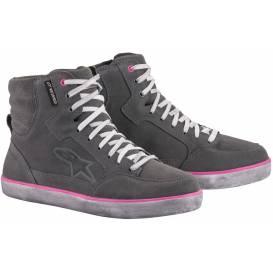 Topánky J-6 WATERPROOF, ALPINESTARS, dámske (svetlá sivá / ružová)