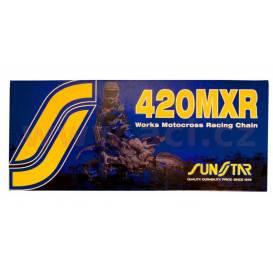 řetěz 420MXR, SUNSTAR - Japonsko (barva zlatá, 78 článků)