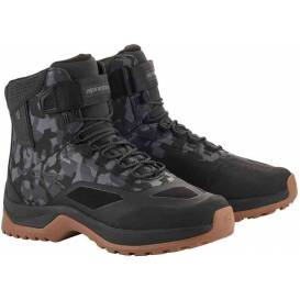 Shoes CR-6 DRYSTAR, ALPINESTARS (black / gray camouflage)