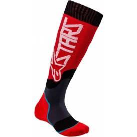 Ponožky MX PLUS-2 2021, ALPINESTARS (červená/bílá)