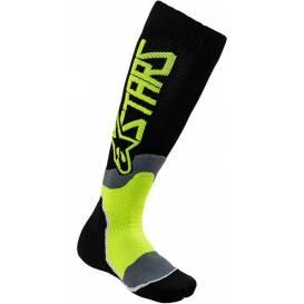 Ponožky MX PLUS-2 2021, ALPINESTARS (čierna / yellow fluo)