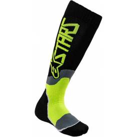 Socks MX PLUS-2 2021, ALPINESTARS (black / yellow fluo)