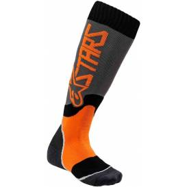 Socks MX PLUS-2 2021, ALPINESTARS (gray / orange fluo)