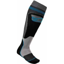 Ponožky MX PLUS-1 2021, ALPINESTARS (čierna / tyrkysová)
