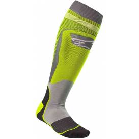 Socks MX PLUS-1 2021, ALPINESTARS (yellow fluo / gray)