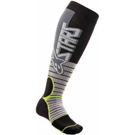 Socks MX PRO SOCKS 2021, ALPINESTARS (gray / yellow fluo)