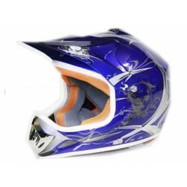 Moto přilba Sunway NITRO Enduro Junior PHX - modrá