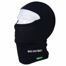 Balaclava cotton hood, OXFORD (black, packed in a bag)