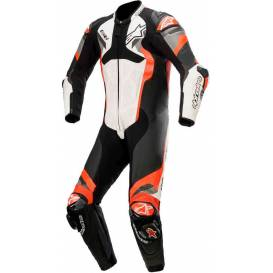One-piece coverall ATEM V4 2021, ALPINESTARS (white / black / red fluo / gray)