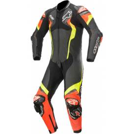 One-piece overalls ATEM V4 2021, ALPINESTARS (black / red fluo / yellow fluo)