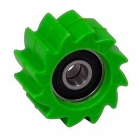 Kladka řetězu Kawasaki, RTECH (zelená, vnitřní průměr 8 mm, vnější průměr 38 mm)