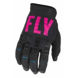 Rukavice KINETIC S.E. K221, FLY RACING - USA (černá/růžová/modrá)