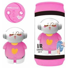 MINI ROBOT in a travel can, IR control, pink