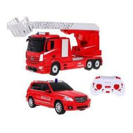Set 2in1 Licensed Fire trucks Mercedes-Benz 1:14 and 1:24