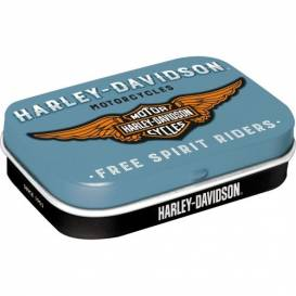 Retro Mintbox Harley Davidson modrý