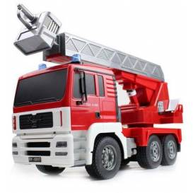 MAN FIRE TRUCK 4WD Firefighters, 1:20, sound module, LED, functional ladder, RTR