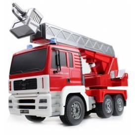 MAN FIRE TRUCK 4WD Hasiči, 1:20, zvukový modul, LED, funkčné rebrík, RTR