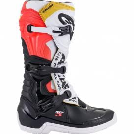 Topánky TECH 3 2021, ALPINESTARS (čierna / biela / červená / žltá fluo)