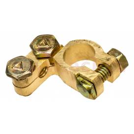 Brass battery terminal 17.5 mm Clasic +