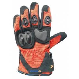 Moto rukavice XMOTOS dětské - černo/oranžové