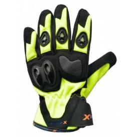 Moto rukavice XMOTOS pro děti - černo/zelené