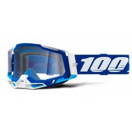RACECRAFT 2 100% - USA, blue glasses - clear plexiglass