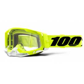 RACECRAFT 2 100% - USA, yellow glasses - clear plexiglass