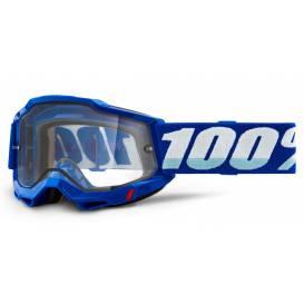 ACCURI 2 100% - USA, Enduro Moto glasses blue - clear Dual plexiglass