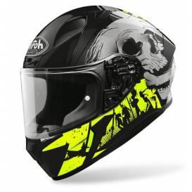 VALOR AKUNA helmet, AIROH - Italy (white / black / fluo) 2021
