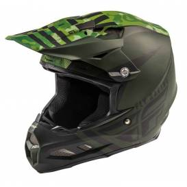 Helmet F2 Carbon GRANITE, FLY RACING (dark green / black, with MIPS protection system)