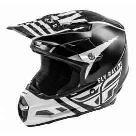 Helmet F2 Carbon GRANITE, FLY RACING (white / black / gray, with MIPS protection system)