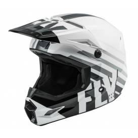 KINETIC THRIVE helmet, FLY RACING, children's (white / black / gray)