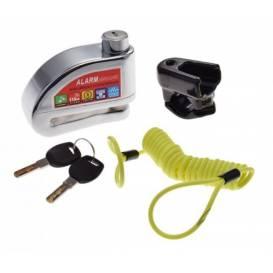 Moto zámok s alarmom chróm (5x54x7)