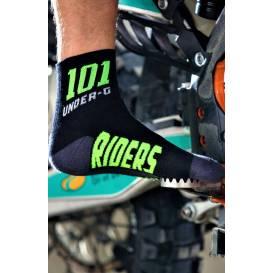 Ponožky ACTION, 101 RIDERS čierne / neon)
