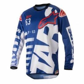 Dres Racer Braap, ALPINESTARS - Taliansko (modrý / biely / červený)