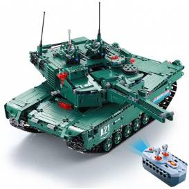 CaDA DETECH M1A2 Abrams 2in1 RC kit, functional cannon, DEMO mode, 1498 parts