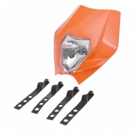 Additional headlight for motorcycles - orange