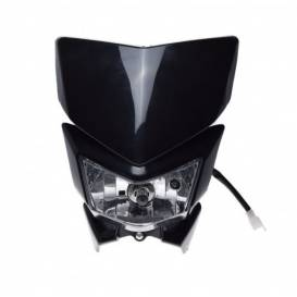 Additional headlight for H4 motorcycles - black