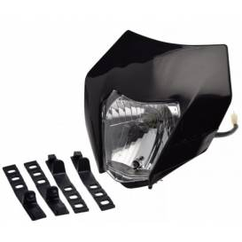 Additional headlight for motorcycles - black