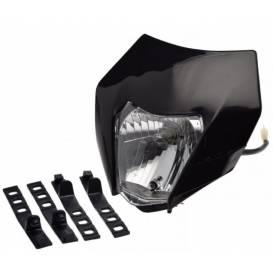 Prídavné predné svetlo na motocykle - čierne