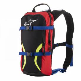 Hydrobag IGUANA 2021, ALPINESTARS (black / blue / red / yellow fluo, total volume 6 l, volume of hydrobag 1.5 l)