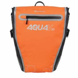 Side bag AQUA V20 QR, OXFORD (orange / black, with quick-release system, volume 20l, 1pc)