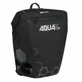 Side bag AQUA V20 QR, OXFORD (black, with quick release system, volume 20l, 1pc)