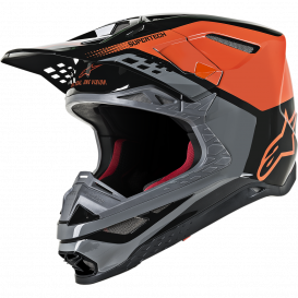 SUPERTECH S-M8 TRIPLE 2021 Helmet, ALPINESTARS (orange / gray / black)